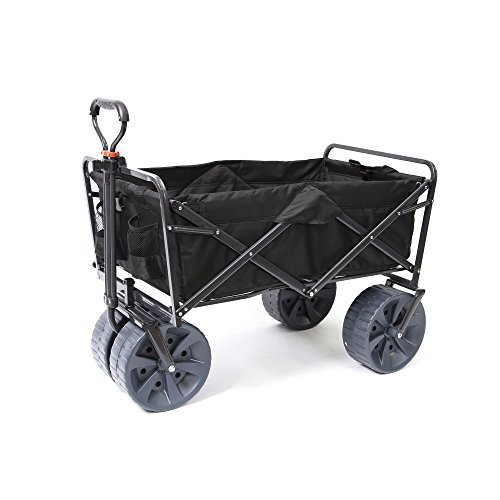 Mac Sports Heavy Duty Collapsible Folding All Terrain Utility Beach Wagon Cart